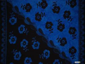 Hibiscus Sarong Blue / Black - Hi-21