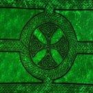 Celtic Sarong, Celtic Cross And Circle Green