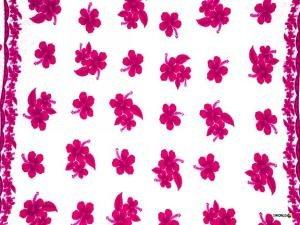 Hibiscus Sarong Pink / White - Hi-44