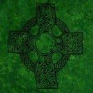 Celtic Sarong, Celtic Cross 1 Emerald Green
