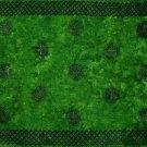 Celtic Sarong, Interlace Knotwork Emerald Green