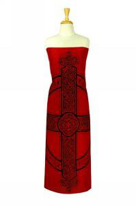 Celtic Sarong, Celtic Cross 3 Red