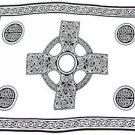 Celtic Sarong, Celtic Cross 2 Black / White