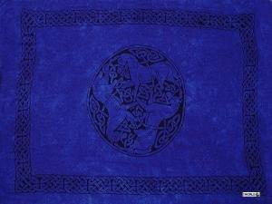 Celtic Sarong, Horses Royal Blue