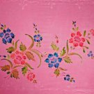 Sequined Embroidered / Floral-14 Sarong Pink