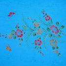 Sequined / Embroidered / Floral-10 W/ Butterflies Sarong Turquoise