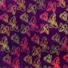 Butterfly Half Sarong Purple / Multi Colored