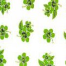 Hibiscus Half Sarong Green / White