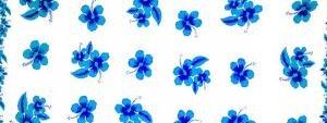 Hibiscus Half Sarong Turquoise / Blue / White