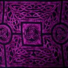 Celtic Circles Sarong, Royal Purple