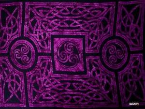 Celtic Circles Sarong, Royal Purple