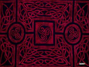 Celtic Circles Sarong, Merlot