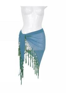 Sheer Sarong Aqua Pearl