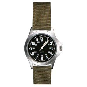 Field Watch, Khaki Nylon Strap, Black Face