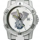 Chrome Biker Watch, V-Twin W/ Date