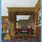Golden Drawing Room - Carlton House - 16x24 Giclee Fine Art Print Framed In Black (20x30 Finished)