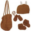 Hand Knit Bag With Booties, Beanie And Mittens (case Of 42)