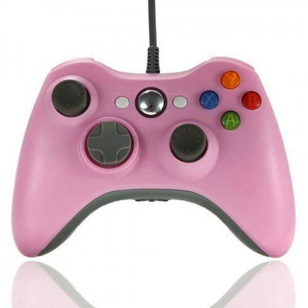 Wired USB Game Pad Controller for Windows & Xbox 360 Console - Pink