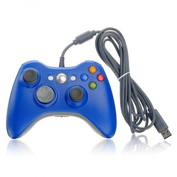 Wired USB Game Pad Controller for Windows & Xbox 360 Console - Blue