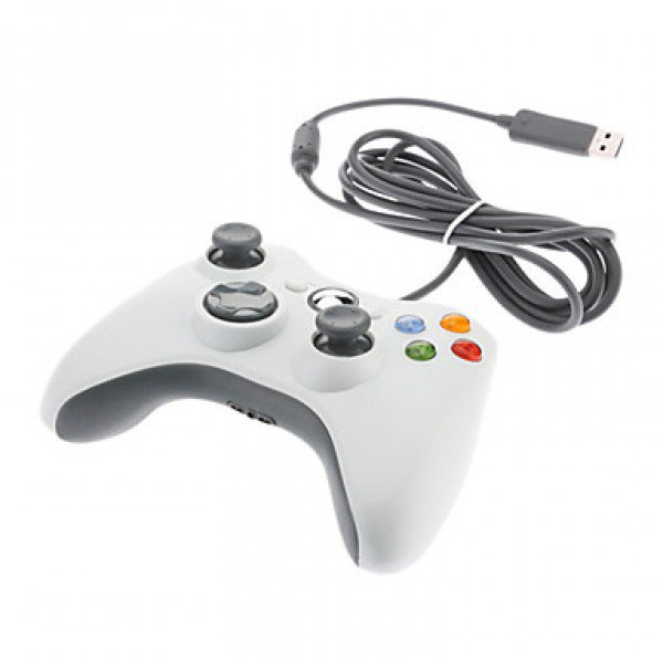 Wired USB Game Pad Controller for Windows & Xbox 360 Console - white