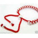 RED FRIENDSHIP BRACELET ADJUSTABLE CHARM