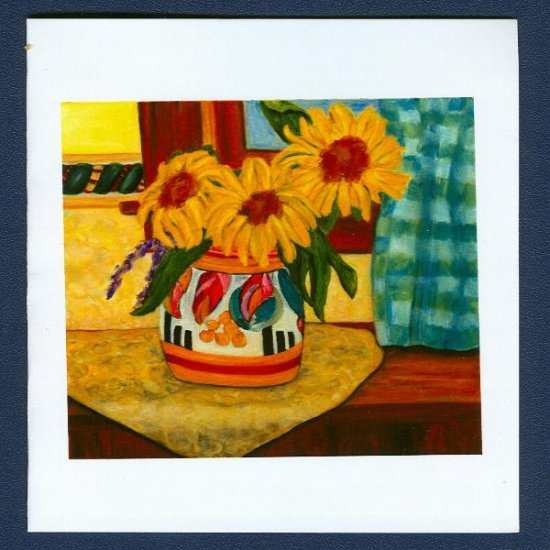 Clarice Cliff Sunny Window ~ Floral Art Notecards