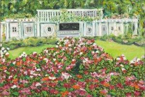"""Cranford Rose Garden"" ~ Art Notecards"