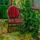 """A Gardener Once Lived Here"" - Art Notecard"