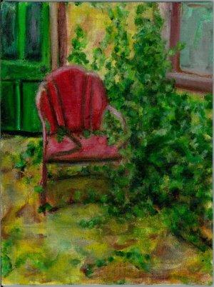 """A Gardener Once Lived Here"" - Art Notecard"
