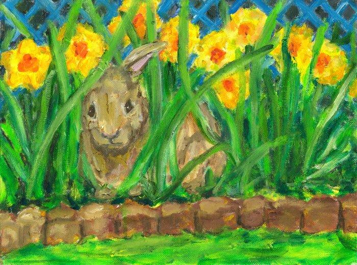 """""""Spring Peek A Boo"""" -  Art Notecards"""