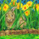 """Spring Peek A Boo"" -  Art Notecards"