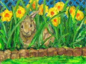 Spring Peek- A- Boo, Giclee Art Print