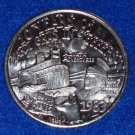 AESOPS FABLES RIVERBOAT FOX AUTHENTIC NEW ORLEANS MARDI GRAS DOUBLOON COIN TOKEN