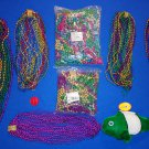 ***BRAND NEW*** 7 DOZEN AUTHENTIC NEW ORLEANS MARDI GRAS BEADS LOT + **BONUSES**