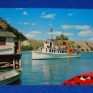 VINTAGE WATERTON LAKES NATIONAL PARK INTERNATIONAL BOAT ALBERTA CANADA POSTCARD