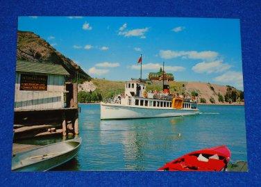 VINTAGE WATERTON LAKES NATIONAL PARK INTERNATIONAL BOAT ALBERTA CANADA POSTCARD