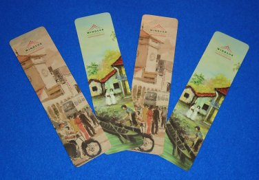 4 VIETNAMESE BOOKMARKS SOUVENIRS WINDSOR PLAZA HOTEL SAIGON VIETNAM 5 STAR HOTEL