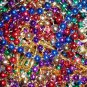 "HUGE LOT 100 NEW ORLEANS MARDI GRAS BEADS 33"" LONG + *BONUSES* MONKEY, DOUBLOON"
