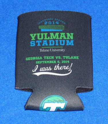 HISTORIC BRAND NEW TULANE UNIVERSITY YULMAN FOOTBALL STADIUM OPENING DAY KOOZIE