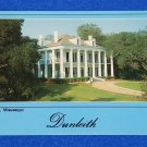 BEAUTIFUL DUNLEITH PLANTATION POSTCARD NATCHEZ MISSISSIPPI GREEK REVIVAL HOUSE