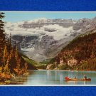 VINTAGE BANFF NATIONAL PARK ALBERTA CANADA POSTCARD LAKE LOUISE & MOUNT VICTORIA