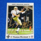 AWESOME NEW ORLEANS SAINTS THOMAS MORSTEAD TRADING CARD NFL PLAYER PUNTER SMU