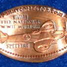 NATIONAL WORLD WAR II MUSEUM MILITARY SPITFIRE AIRPLANE PENNY SOUVENIR WWII COIN