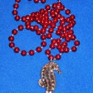 UNIQUE AND DAZZLING AUTHENTIC NEW ORLEANS SEAHORSE MARDI GRAS BEAD MARINE FISH