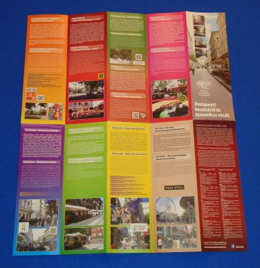 BRAND NEW BUDAPEST HUNGARY BROCHURE MAP - EXCELLENT INFORMATIVE REFERENCE GUIDE