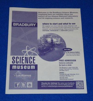 BRAND NEW BRADBURY SCIENCE MUSEUM BROCHURE LOS ALAMOS NATIONAL LABORATORY