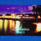 BEAUTIFUL LAHAINA MAUI AT NIGHT POSTCARD WHALING PORT FORMER CAPITAL OF HAWAII
