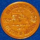 STORY OF LOUISIANA AUTHENTIC NEW ORLEANS MARDI GRAS DOUBLOON TOKEN U.S. STATE