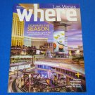 LAS VEGAS WHERE MAGAZINE SOUVENIR BROCHURE **EXCELLENT HANDY REFERENCE BOOK**