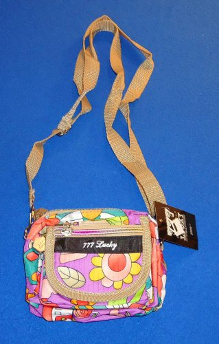 **BRAND NEW** GLAMOUROUS ADORABLE LUCKY 777 PURSE WITH TAG AND MANY POCKETS